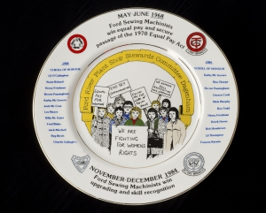 Plate Commemorating the Ford Sewing Machinists, Equal Pay Act 1970