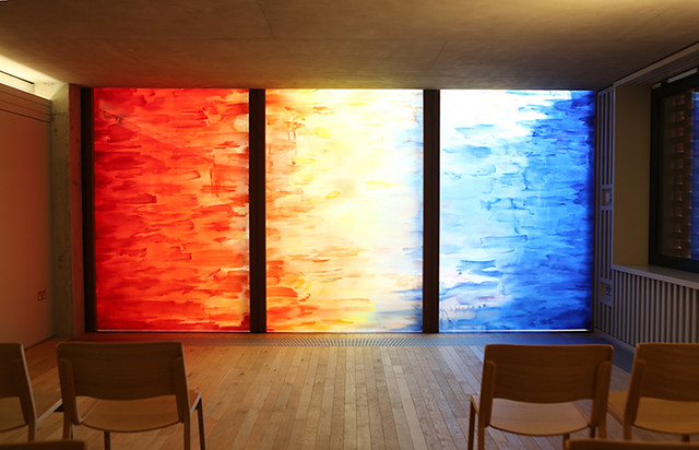 Sacred Desert Window by Christopher Le Brun at Saw Swee Hock Student Centre, 2014. LSE/Nigel Stead
