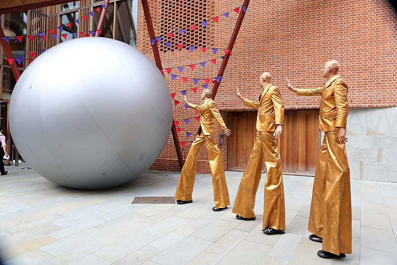 The Elementals at the opening of Saw Swee Hock Student Centre, 2014. LSE/Nigel Stead