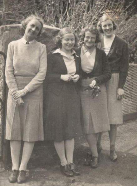 Jo Demanine, Mernie Yeomans, Magaret Grutzner and Jessie Scove. Jane Miller