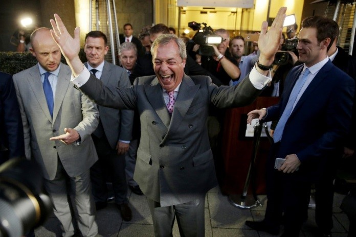 On June 24, 2016, Nigel Farage, the UK Independence Party's leader, celebrated after Britain voted to exit.