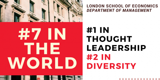 LSE Management named top ten in world, #1 in thought leadership