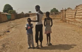 Three children, a year after repatriating from Israel (Mollie Gerver, Aweil, South Sudan, April 2012).