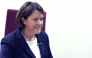 Maria Miller MP speaks to Gov Student Jasmine Bide.