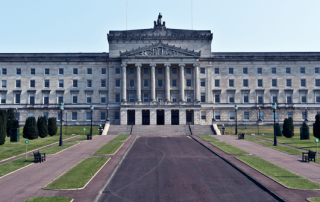 The Stormont Assembly building in Belfast, Northern Ireland