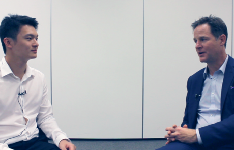 GOV STUDENTS ASK: Nick Clegg MP about 'Politics: Between the Extremes'