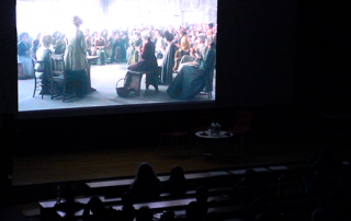 The audience watching the film Peterloo at our screening on 7 March 2019