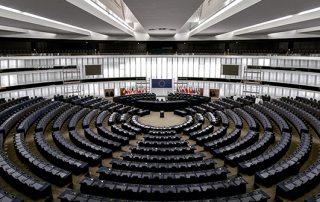 Image of European Parliament interior in Strasbourg