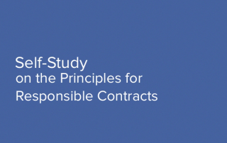 Self-Study on the Principles for Responsible Contracts