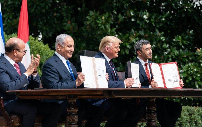 Were the Bahrain-Israel and Israel-UAE agreements historic deals?