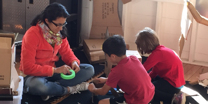 Supervising, cheerleading, babysitting and collaborating: parents as co-learners in makerspaces