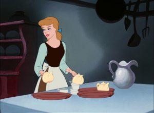 Cinderella setting a table