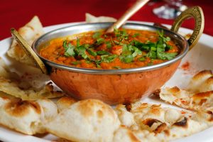 A bowl of Indian food