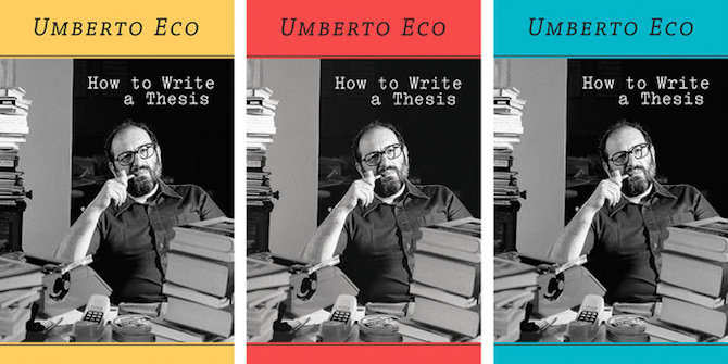 Book Review: How to Write a Thesis by Umberto Eco | Impact of Social Sciences