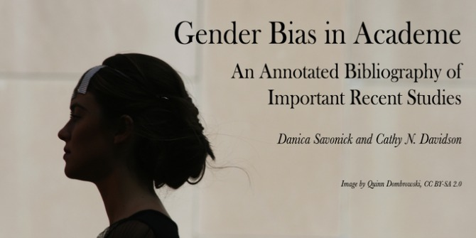 Gender Bias in Academe: An Annotated Bibliography of Important Recent Studies | Impact of Social Sciences
