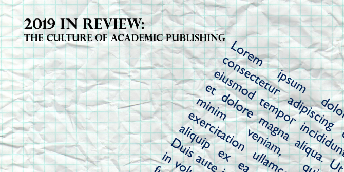 2019 In Review: The culture of academic publishing | Impact of Social Sciences
