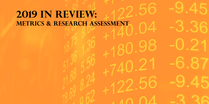 2019 In Review: Metrics and research assessment | Impact of Social Sciences
