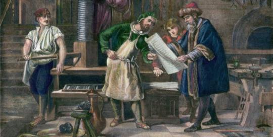 Gutenberg's moving typepropelled Europe towards the scientific revolution