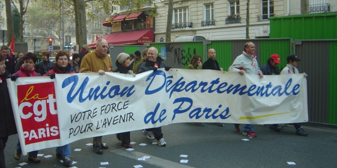 Protest-oriented unionism seems to be receding in France