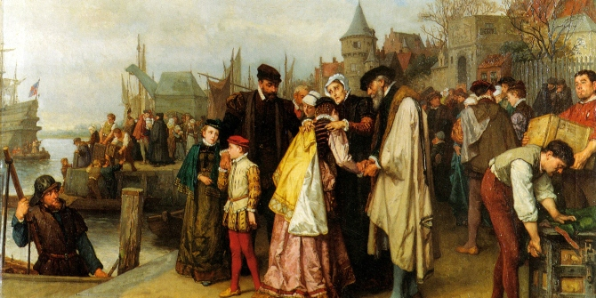 What consequences did religious intolerance against the Huguenots have in France?
